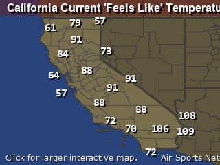 California Apparant Temperature