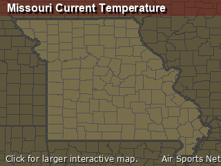 Missouri's Current Temperature Map