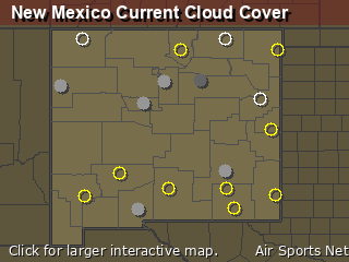 New Mexico Cloud Cover