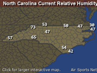 North Carolina Relative Humidity