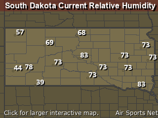 South Dakota Relative Humidity
