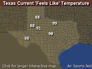 Texas Apparant Temperature