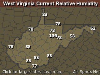West Virginia Relative Humidity