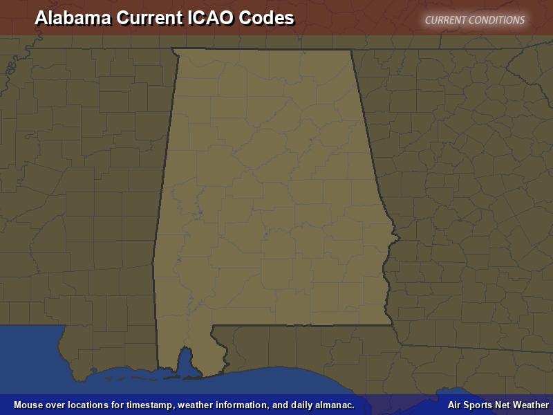 Alabama ICAO Map