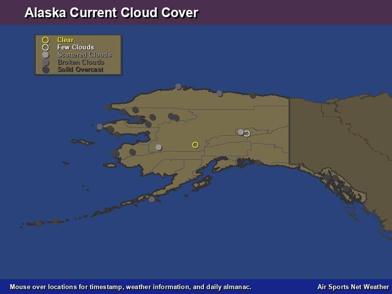 Alaska Cloud Cover Map - Air Sports Net