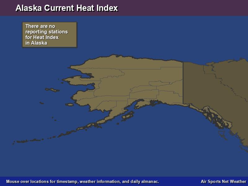 Alaska Heat Index Map