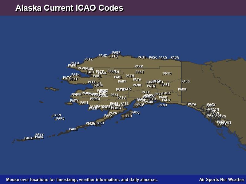 Alaska ICAO Map - Air Sports Net