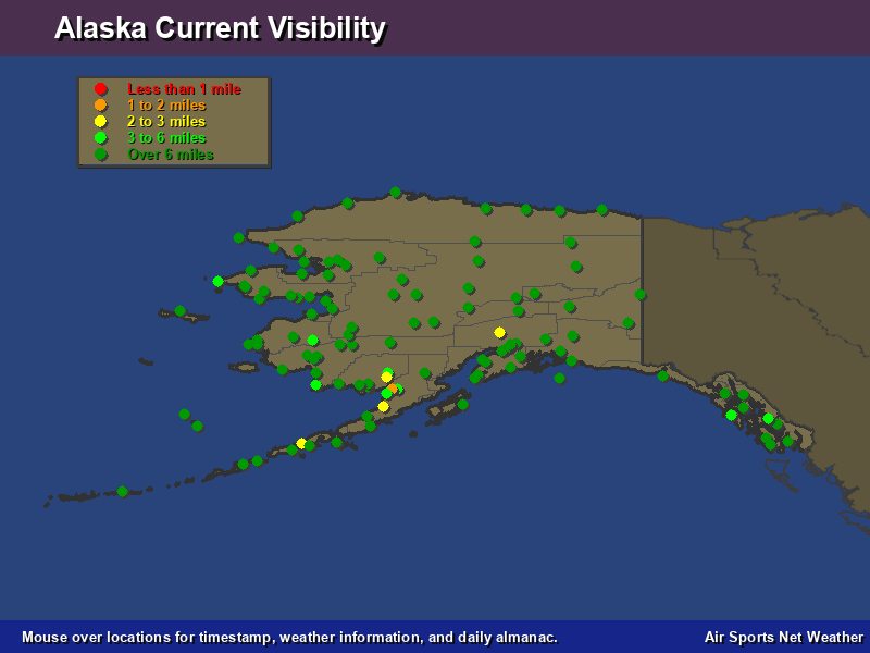 Alaska Visibility Map - Air Sports Net