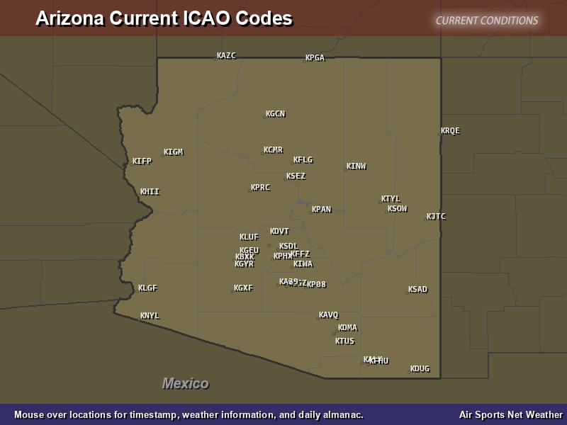 Arizona ICAO Map