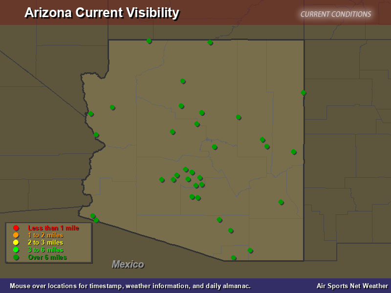 Arizona Visibility Map