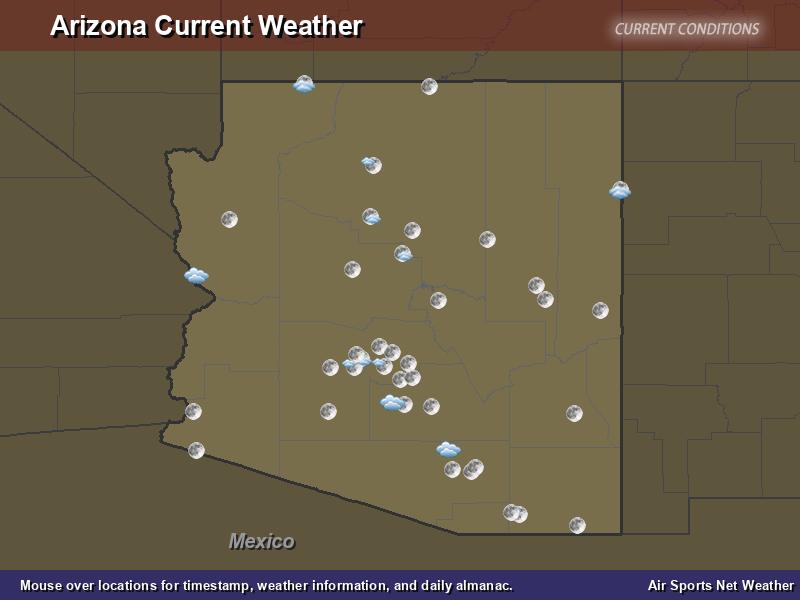 Arizona Weather Map