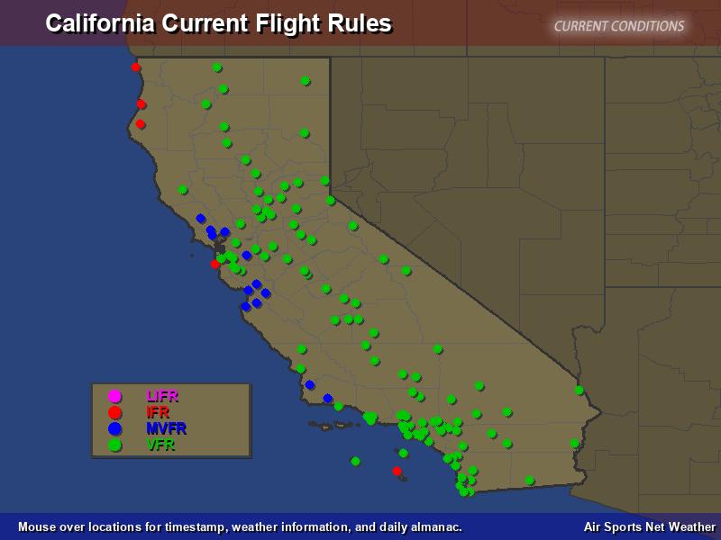 California Flight Rules Map