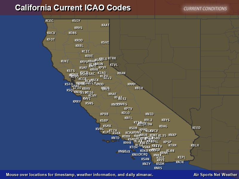 California ICAO Map