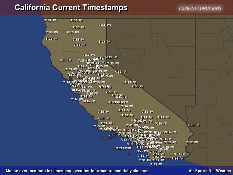 California Timestamp Map