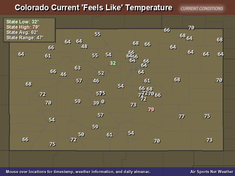 Colorado Feels Like Temperature Map