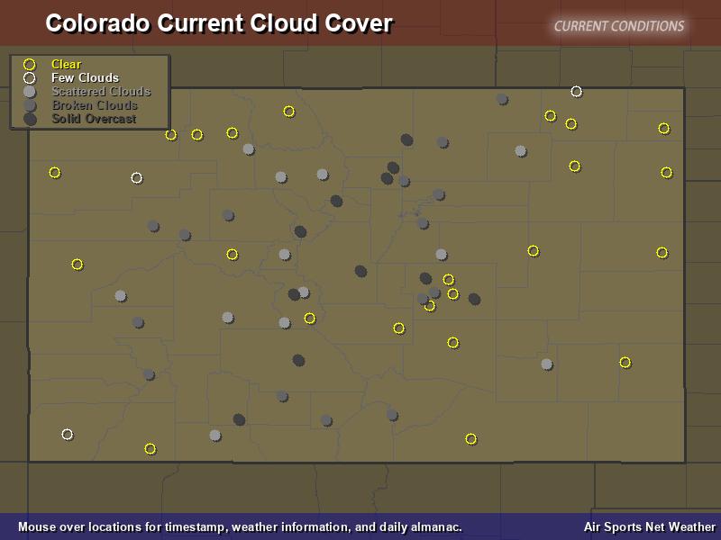 Colorado Cloud Cover Map