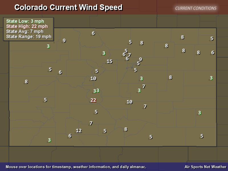 Colorado Wind Speed Map