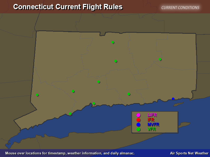 Connecticut Flight Rules Map