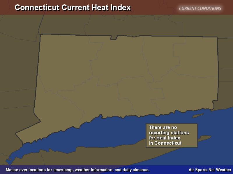 Connecticut Heat Index Map