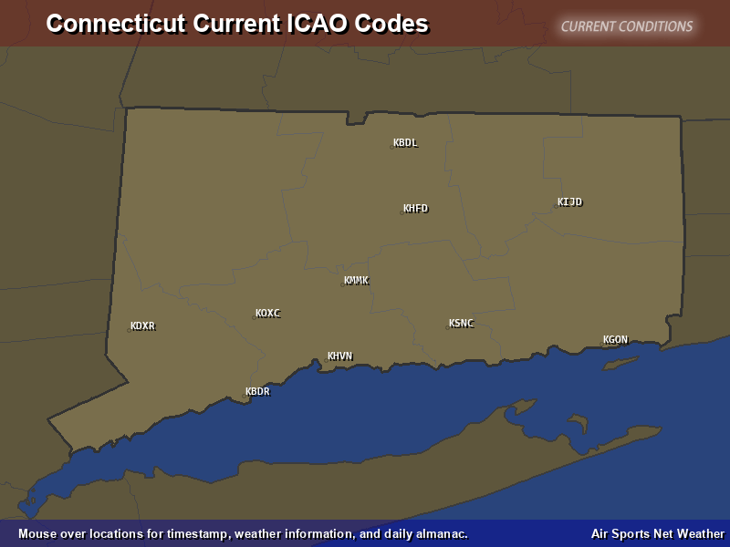 Connecticut ICAO Map