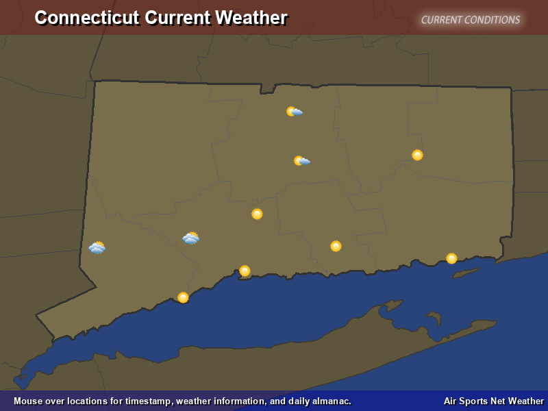Connecticut Weather Map