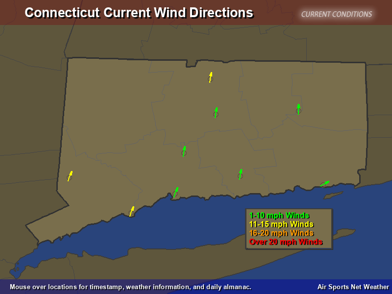 Connecticut Wind Direction Map