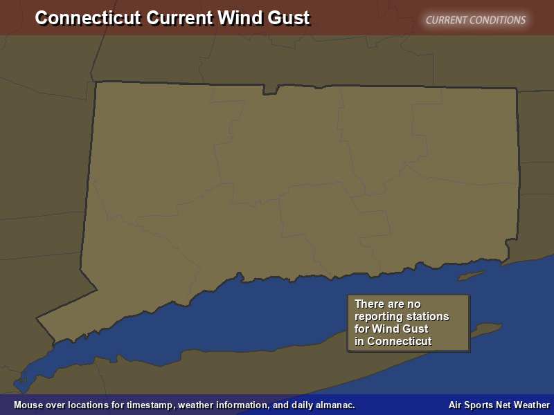 Connecticut Wind Gust Map
