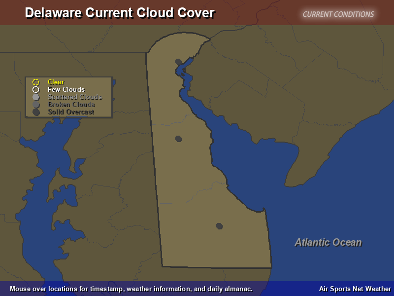Delaware Cloud Cover Map