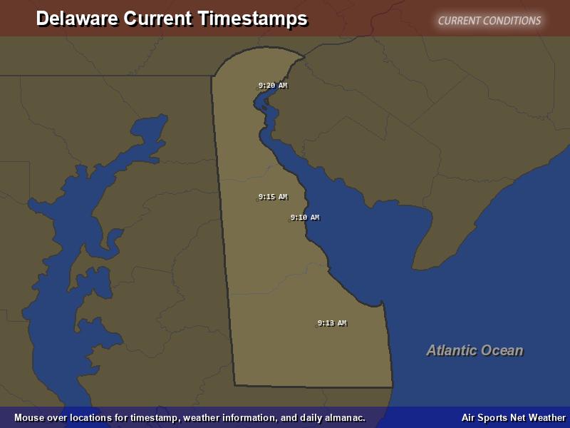 Delaware Timestamp Map