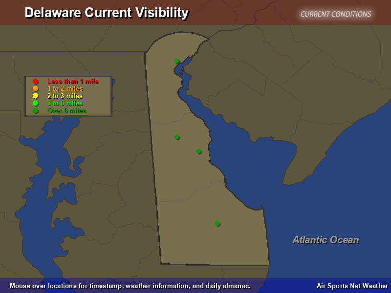 Delaware Visibility Map