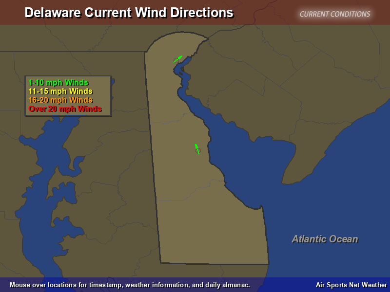 Delaware Wind Direction Map