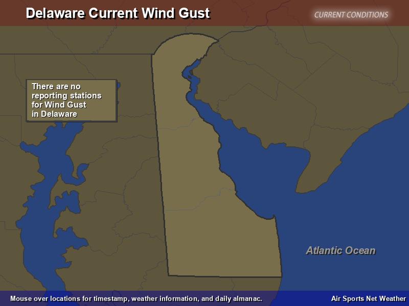 Delaware Wind Gust Map
