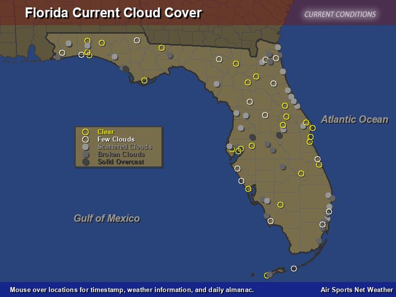 florida cloud cover map - air sports net