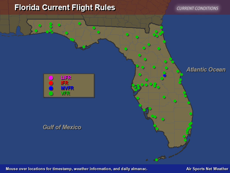 Vfr Weather Map.Florida Flight Rules Map Air Sports Net