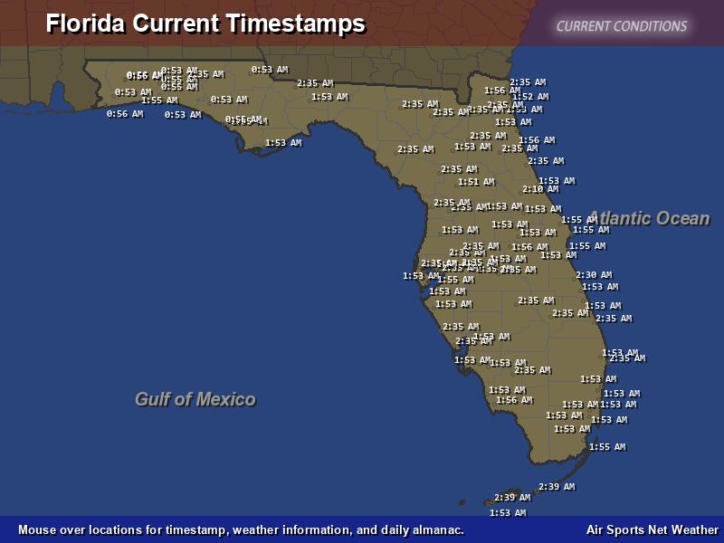 Florida Timestamp Map