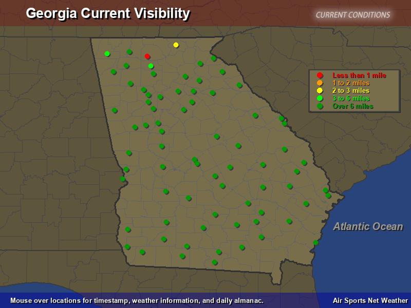 Georgia Visibility Map