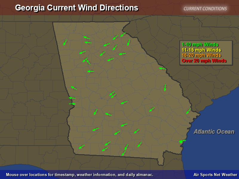 Georgia Wind Direction Map