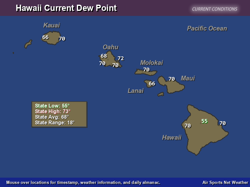 Hawaii Dew Point Map Air Sports Net - Map of dew points us