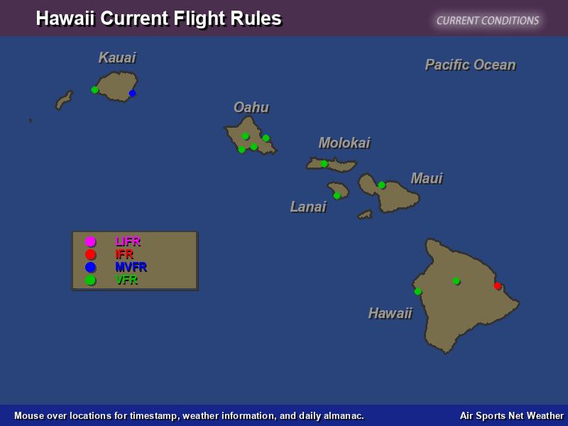 Hawaii Flight Rules Map