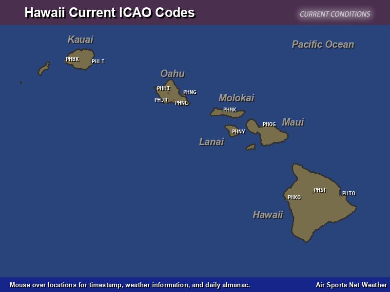 Hawaii ICAO Map