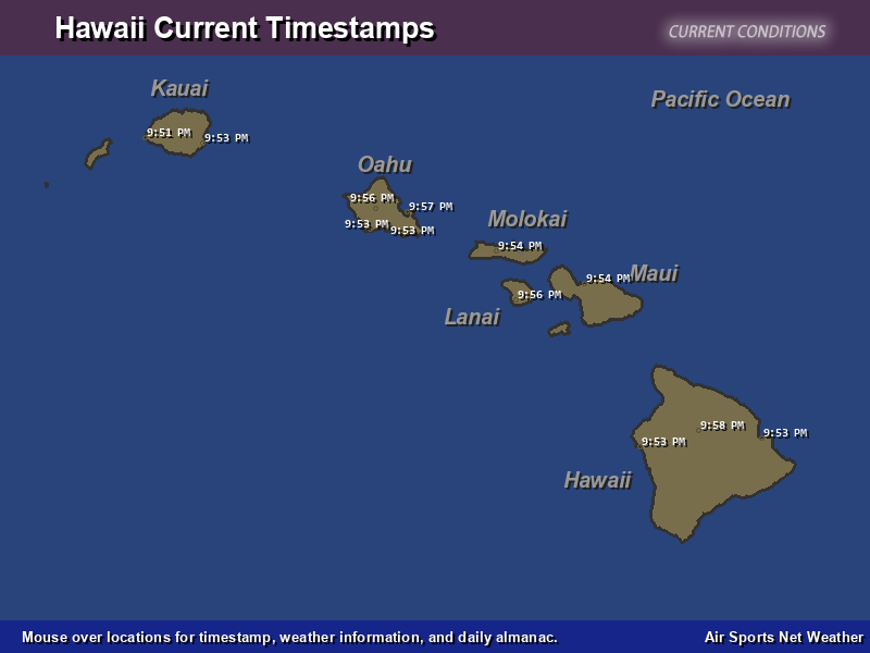 Hawaii Timestamp Map