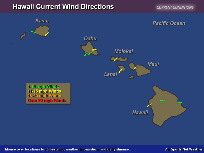 Hawaii Wind Direction Map Air Sports Net