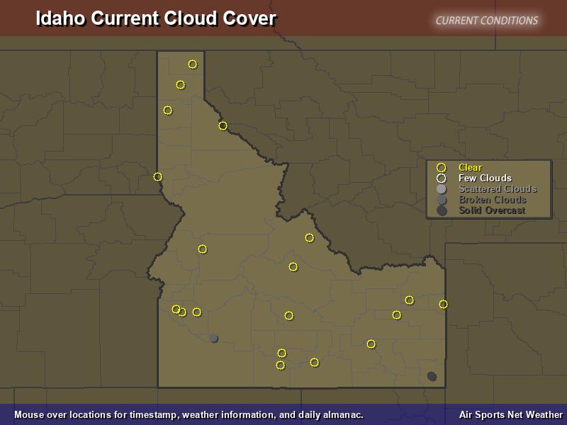 Idaho Cloud Cover Map