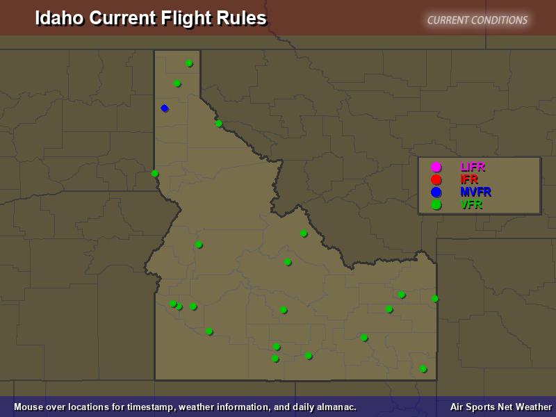 Idaho Flight Rules Map