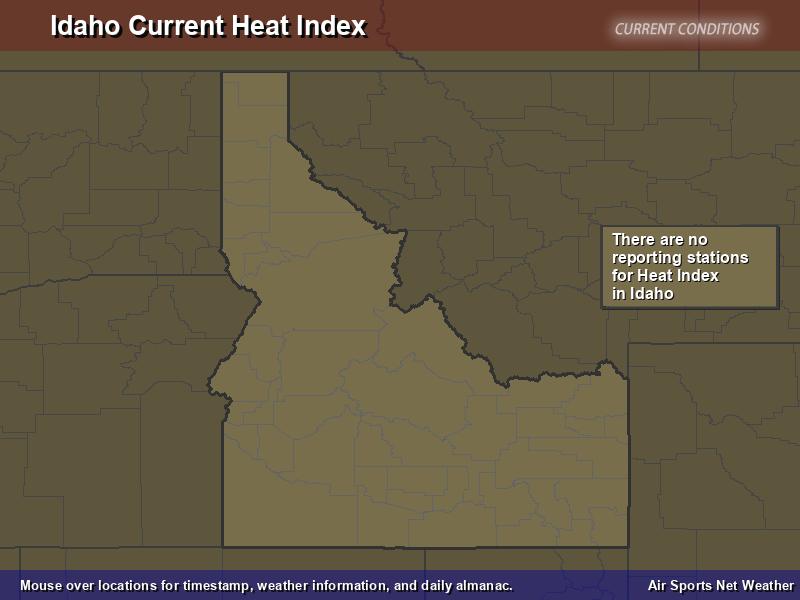 Idaho Heat Index Map