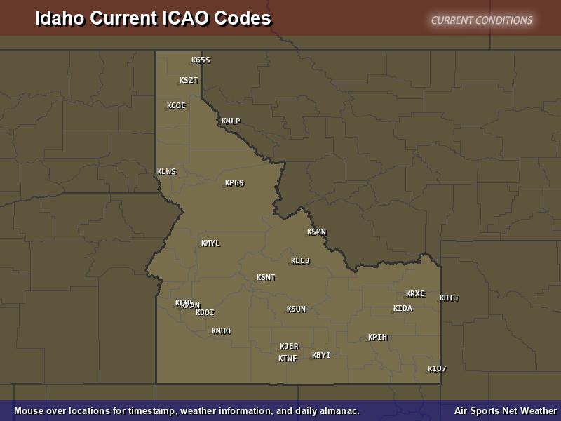 Idaho ICAO Map