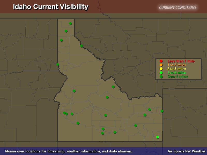 Idaho Visibility Map