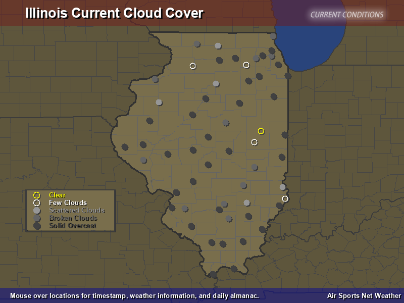 Illinois Cloud Cover Map