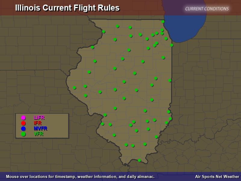 Illinois Flight Rules Map