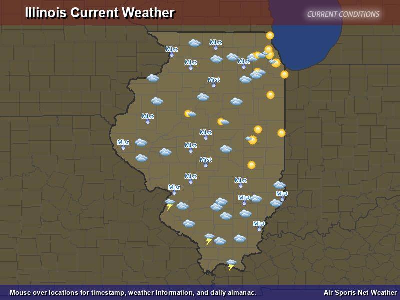 Illinois Weather Map